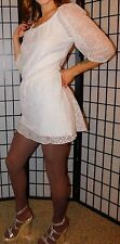 Heart Soul, Layered Lace Mini Dress, Fitted, Ivory, Medium