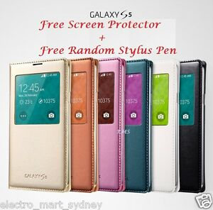 S-View-Waterproof-Flip-Leather-Case-Cover-for-Samsung-Galaxy-S5