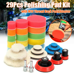 29Pc-Polishing-Pad-Kit-With-M14-Thread-Back-Pad-amp-Adapter-Drill-Buffing-Buffer