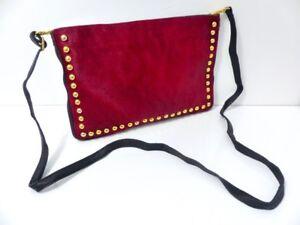 Veau A Rouge Bandouliere Main Noiramp; Cuir Pochette Peau Handbag Sac 7vIbmf6gyY