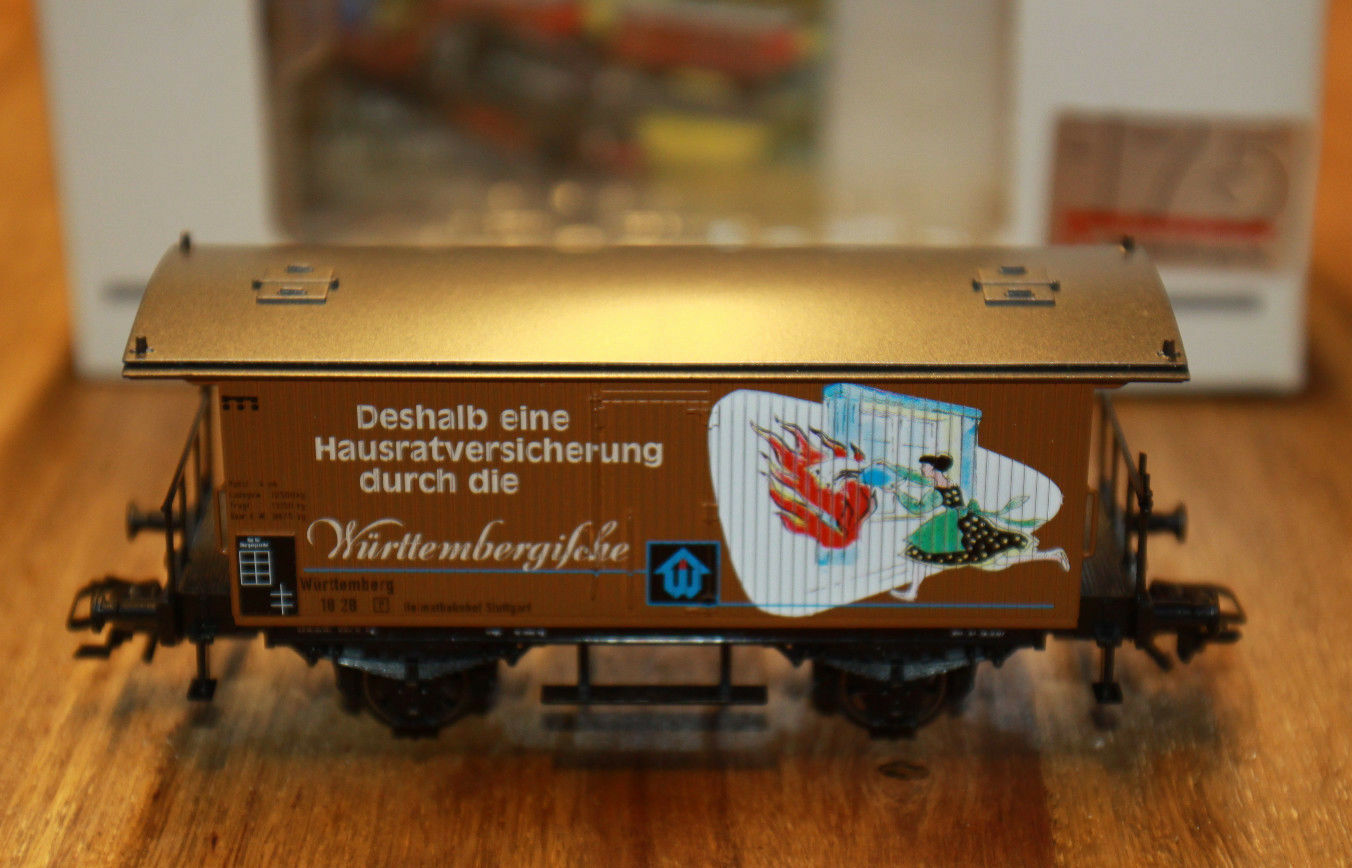 (H 3) Märklin vagón 175 AÑOS würtembergische SEGURO nuevo emb. orig.