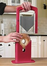 Cooking Gadgets For Women Hoan Bagel Guillotine Slicer Safely ,Red, New, By Hoan