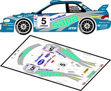 DECALS 1/43 SUBARU IMPREZA WRC - #5 - CZOPIK - RALLYE POLOGNE 2003 - MFZ D43095