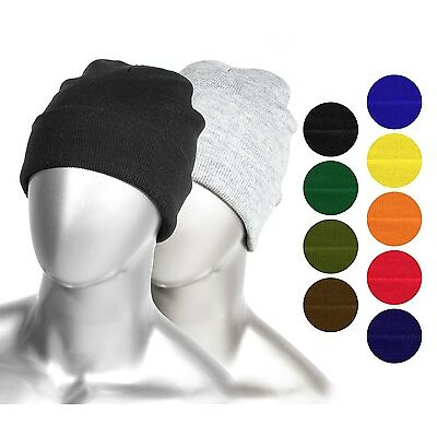 Thick Plain Long Beanie for Adults