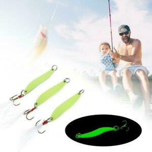 Luminous Trout Spoon Metal Fishing Lures Spinner Bait Bass Tackle Hook B1Q3