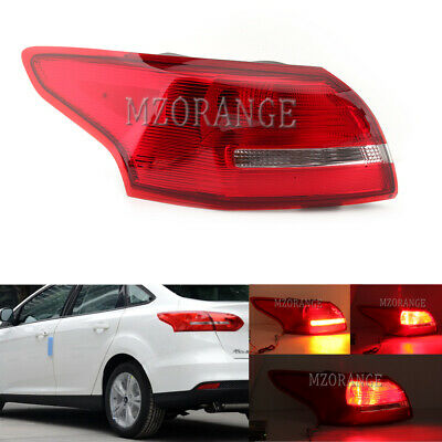 For Ford Focus 2015 16 2017 2018 Sedan Left Driver Tail Light Outer Rear Lamp LH