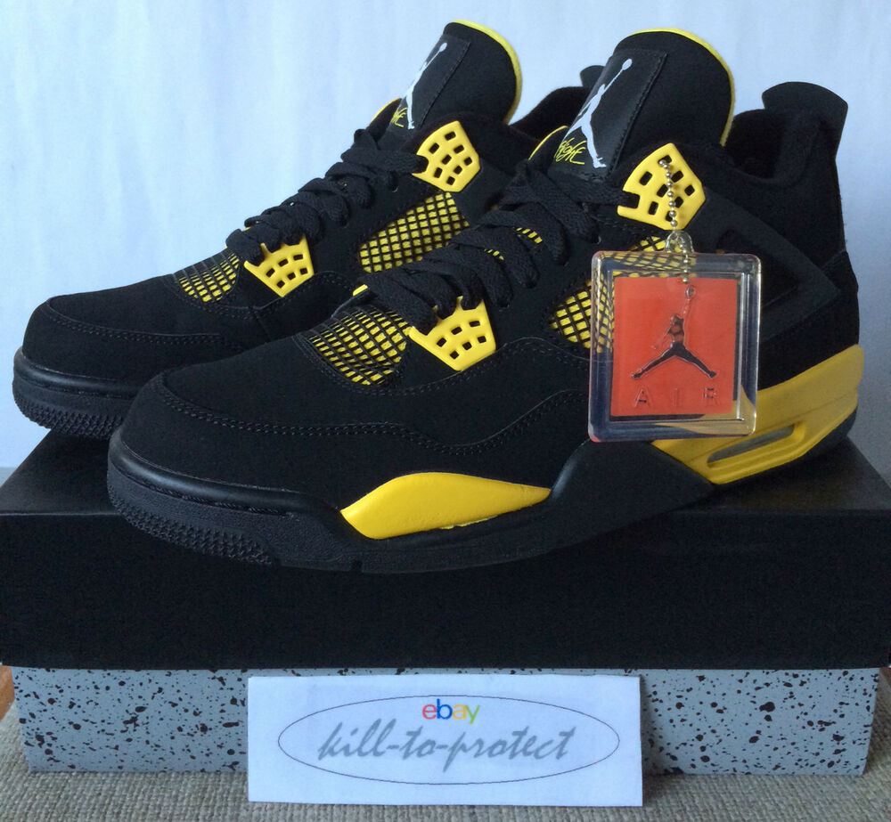 Nike jordan 4 thunder sz 7 8 9 10 11 12 13 legit 308497-008 laser Cavs db 2012-