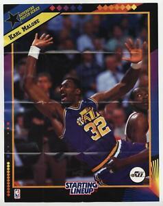 1992 Kenner Starting Lineup Superstar Poster Series Karl Malone HOF