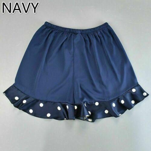 Damen Kunstseide Höschen Shorts Unterwäsche Slip Satin Gepunktet Rüschen