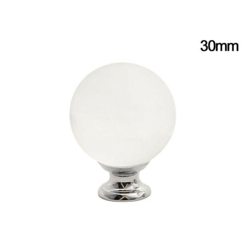 1PC Door Handle Crystal Clear Glass Cabinet Cupboard Drawer Pull Furniture Knobs