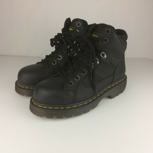 Dr Martens Industrial Boot 7 Steel Toe Black Ankle AW140