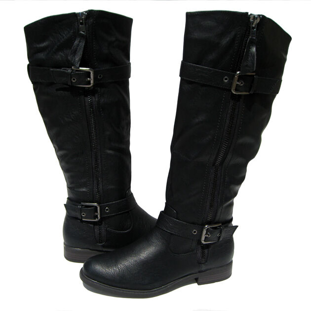 New Women's Fashion Boots Black Shoes Winter Snow Fur Lined Ladies size 6.5