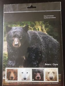 Canada-2019-1-Pane-Of-4-x-0-90P-3-60-Bears-Ours-MNH
