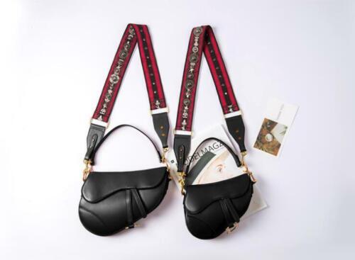 real tachas cuero para una bandolera correa con inspirado el con en diseñador mujer Bolso de Hqnt68wxwR