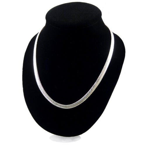 """6.0mm Flat Solid 925 Silver Plated Sterling Snake Chain Necklace 16/""""-24/"""" UK"""
