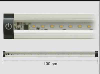 Barra LED ULTRAPIATTA 1 metro con interruttore touch 90 LED + alimentatore