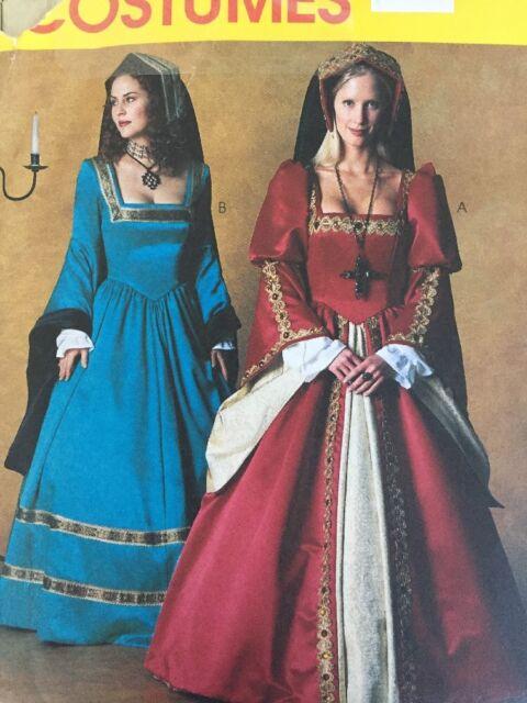 McCalls 3282 Tudor Gown 12 14 16 Renaissance Costume Pattern Uncut ...