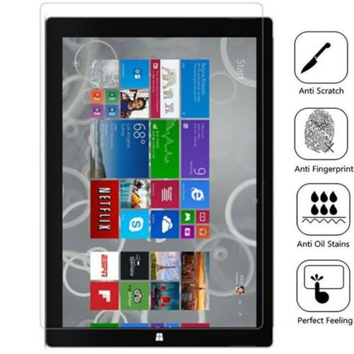2-PACK BISEN Tempered Glass Screen Protector Case For Microsoft Surface Pro 6