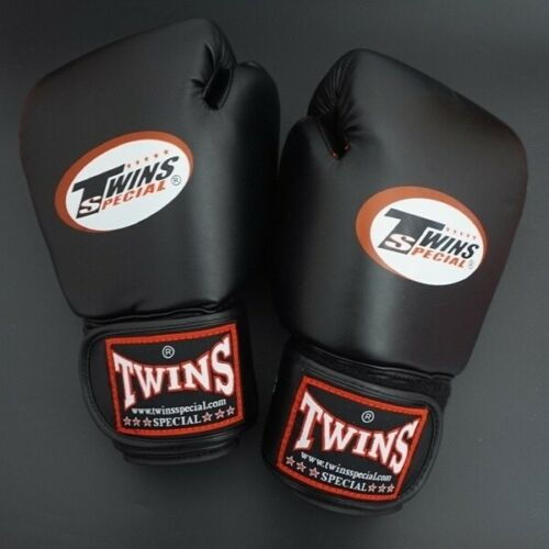 TWINS BOXING GLOVES 10oz 12 oz 14oz WHITE RED BLACK BLUE PINK FREE SHIPPING