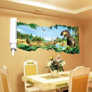 Dinosaur-Park-Boy-Room-Wall-Sticker-Art-Vinyl-Decals-Kids-Room-Wall-Decor-Home