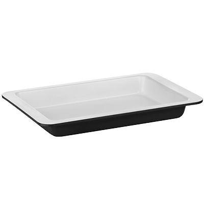 Mettere In Guardia Ecocook Teglia In Acciaio Al Carbonio, Nero, Bianco Rivestimento In Ceramica-