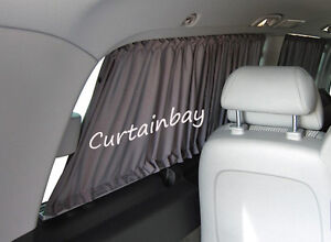 mercedes viano vito 639 rideaux camping car rideau set noir ebay. Black Bedroom Furniture Sets. Home Design Ideas