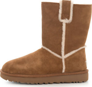 56d9d8b1850 Details about {1098078-CHE} UGG Women Classic Short Spill Seam Chestnut  *NEW* 100% AUTHENTIC