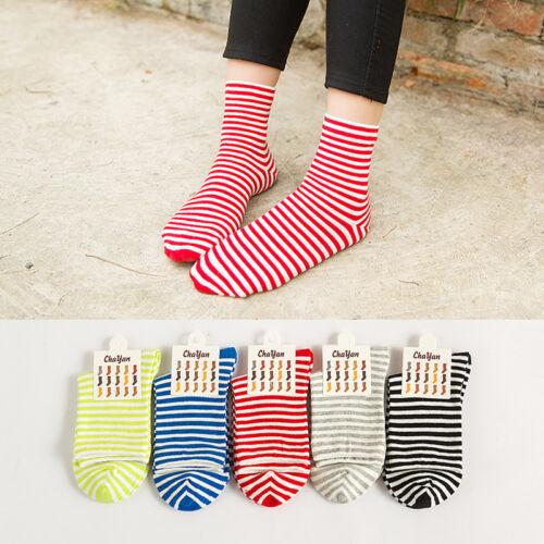 1Pair Fashion Women Cute Casual Striped Socks Fashion Sport Cotton Tube Socks