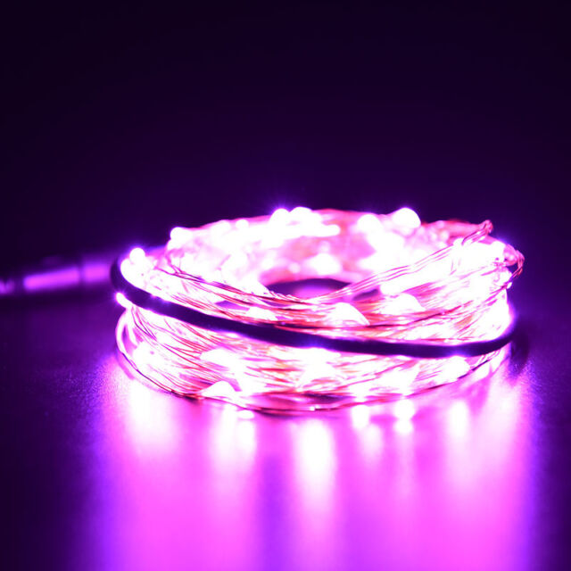 Xmas 1 2 3 5 10M LED Silver Copper Cable Wire Fairy Light String Lamp Fad