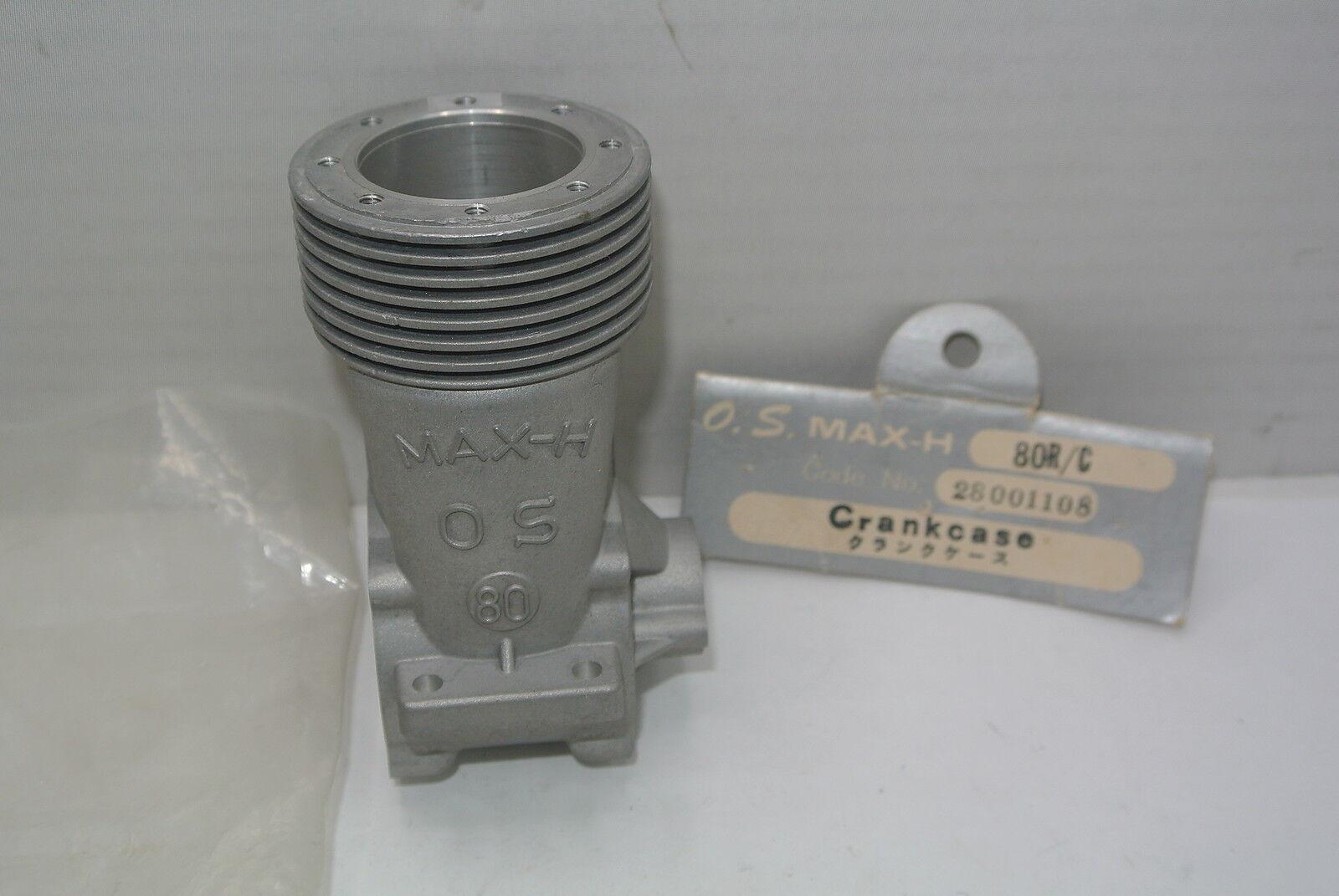 CRANKCASE FOR THE VINTAGE OS  MAX ENGINE .80 R C (Part   28001108) NIB  vendita con alto sconto