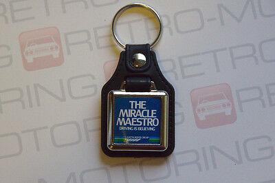 Leatherette retro British classic car keyfob Austin Ambassador Keyring