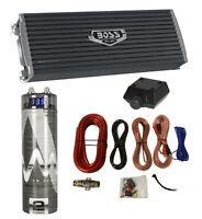 Boss Ar3000.2 3000 Watt 2-channel Car Audio Amplifier + Capacitor + Amp Kit on sale