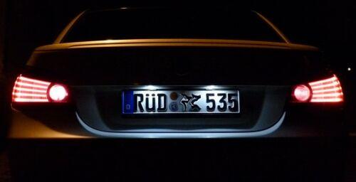 SMD LED ORIGINAL Kennzeichenbeleuchtung BMW mit Adapter Canbus Widerstand Kabel