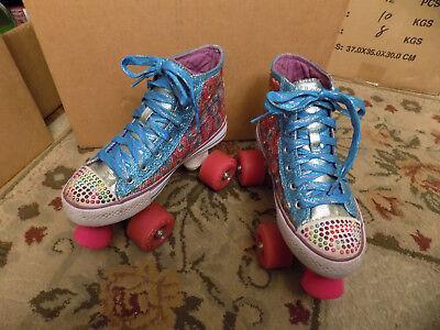 Skechers Twinkle Toes Roller Skates Sneaker SEQUIN JEWELED BLING Youth Sz 3 VGUC | eBay