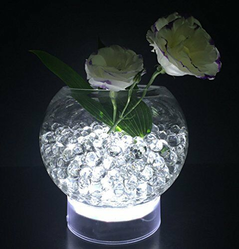 Acmee 4in Acrylic Round Led Vase Base Light With 15 Super Bright
