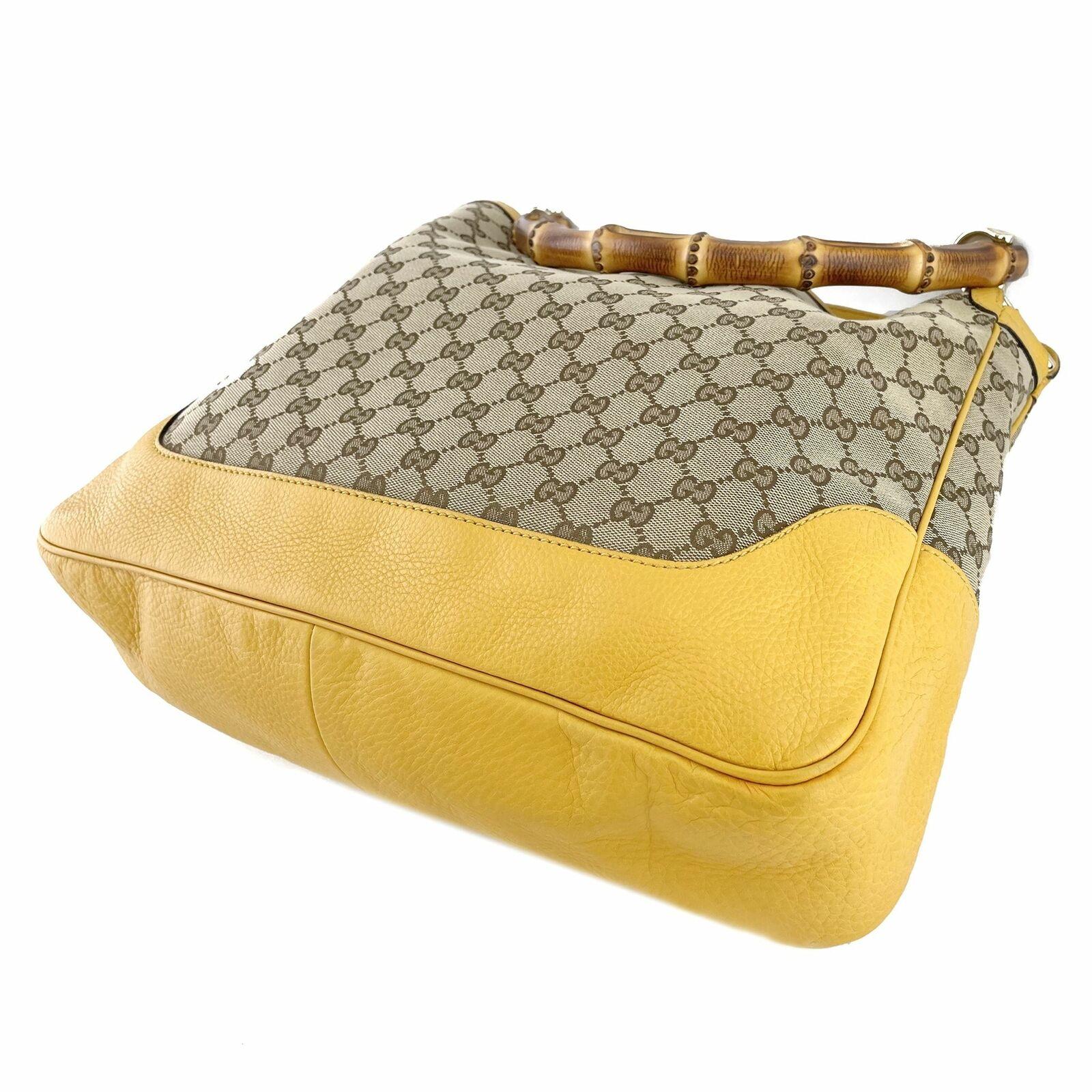 Gucci GG Canvas Diana Bamboo Shoulder Bag - Beige… - image 8