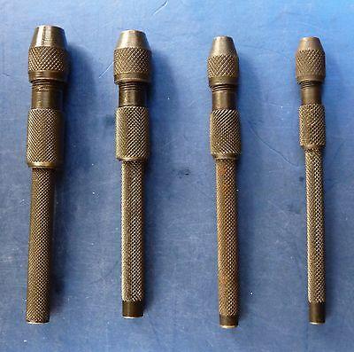 4pc JEWELERS JEWELLERY / WATCHMAKERS MODEL ENGINEERS PIN VICE SET
