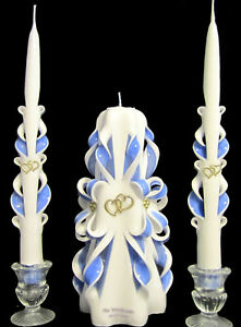 Image Is Loading Design Your Custom Wedding Unity Candles Navy Ivory