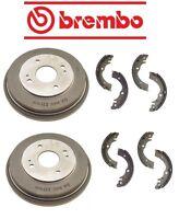 Honda Accord 90-02 Rear Brake Drums With Brake Shoes Brembo / Enduro on sale