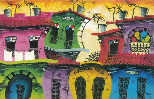 "CUBAN ART #038 **Alberto Q** PERMUTO 18X27"" SIGNED ON CANVAS"