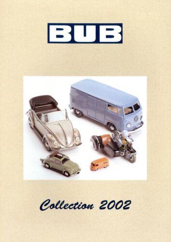 BUB Collection 2002 Modellautokatalog Prospekt Modellauto catalog model car D GB