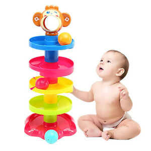 Fun-Time-Spin-Drop-Ball-Runner-Toy-Baby-Toddler-Activity-Age-12-Months-New