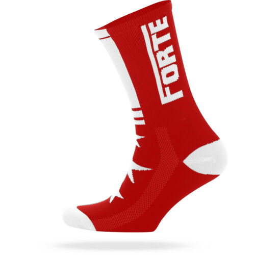 """Triathlon Pro Cycling Socks 5/"""" Tall Red Road MTB Made In Italy 4 Sizes NEW"""