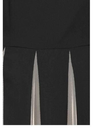 Kleid Vivance Collection schwarz beige knielang ausgestellt Gr 38 40 42 44