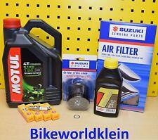 Suzuki GSX-R1000 K1-K4 Servicekit Zündkerzen Original Öl filter Luftfilter Motul