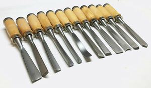 12-High-Quality-Wood-Working-Chisels-Clockmaker-Lathe-Carving-XMAS-GIFT-IDEA