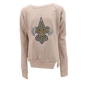 New-Orleans-Saints-Official-NFL-Teen-Apparel-Girls-Sequin-Light-Sweatshirt-New