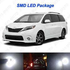 13x Ultra White LED Lights Interior Package kit for 2004-2015 2016 Toyota Sienna