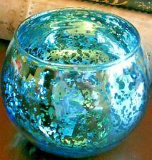 6 25 Aqua Blue Chic Bohemian Glass Tea Light Candle Holder Lantern For Sale Online Ebay