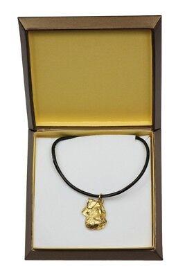 100% QualitäT Schnauzer - Vergoldet Halskette Mit Einem Hund In Einer Box Art Dog De
